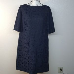 adrianna papell eyelet shift dress size 16w